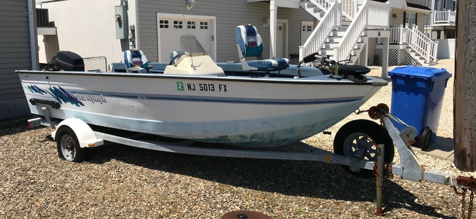 1994 Sea Nymph SC175 17' Aluminum Boat & Trailer - New Jersey