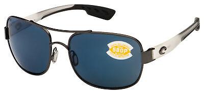 Costa Del Mar Cocos Sunglasses CC-74-OGP Gunmetal w/Crystal Temples | Gray (Costa Del Mar Cocos)