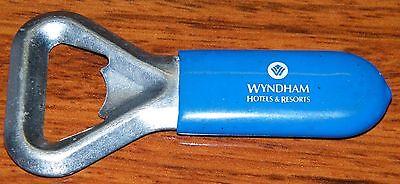 Wyndham Hotels   Resorts Blue Rubber Silicon Handle Beer Bottle Opener For Beer