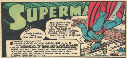 RARE  VINTAGE SUPERMAN SUNDAY PAGE #202 From 1943 - GREAT IMAGES