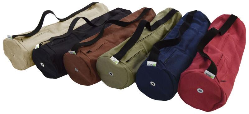 "Organic Hemp Yoga Mat Bag - 7"" dia x 27"" long - Made in USA , Bean Products"