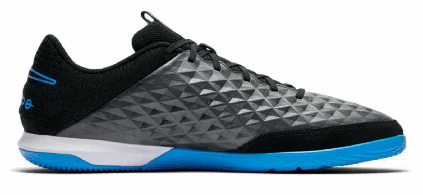 Nike Herren Hallenschuh Fußballschuhe Legend 8 Academy IC schwarz blau