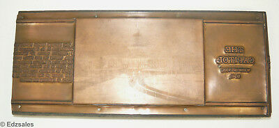 Vintage Us National Capitol Building Letterpress Print Block