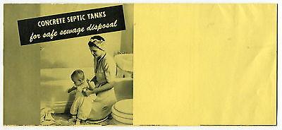 """Vintage """"Portland Cement"""" Brochure: BUILDING CONCRETE SEPTIC TANKS"""