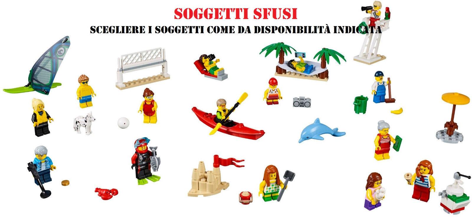 LEGO 60153 CITY DIVERTIMENTO IN SPIAGGIA FUN AT THE BEACH (soggetti nuovi sfusi)