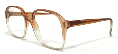 ALEX Genuine Vintage Oversized Glasses Frames Crystal / Brown For Prescription
