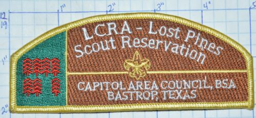 BSA CAPITOL AREA COUNCIL BASTROP TEXAS LOST PINES RESERVATION BOY SCOUT PATCH