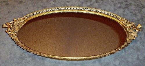 Vintage Matson Stylebuilt Hollywood Regency Gold Dresser Vanity Flowers Birds