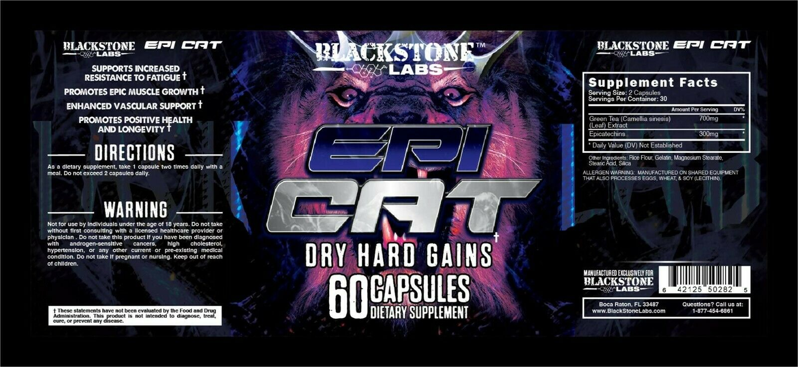BLACKSTONE LABS EPICAT Bodybuilding, Powerlifting, Muscle Growth Epi Cat 1