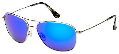 Maui Jim Cliff House Sunglasses B247-17 Silver   Blue Hawaii Polarized (Sunglass House)