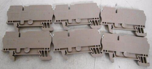 (6) Weidmuller ZDU 2,5/3AN Terminal Blocks