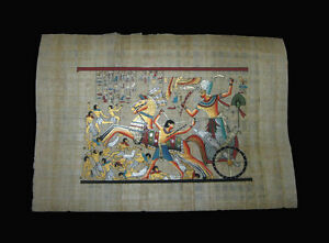 Egyptian-Papyrus-genuine-hand-painted-RamsesII-battle-scene-33x24cm