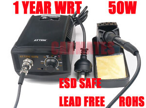 ATTEN SOLDERING IRON STATION 50W Lead Free ESD SAFE CE RHOS OZ WRT for SMD