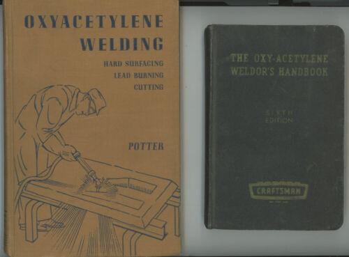 2 VINTAGE 1952 OXYACETYLENE WELDING & 1960 OXY-ACETYLENE WELDOR