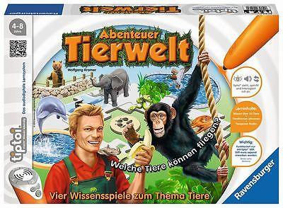 Ravensburger tiptoi Abenteuer Tierwelt Wissen Kinder Brettspiel Tiere Zoo Spiele ()