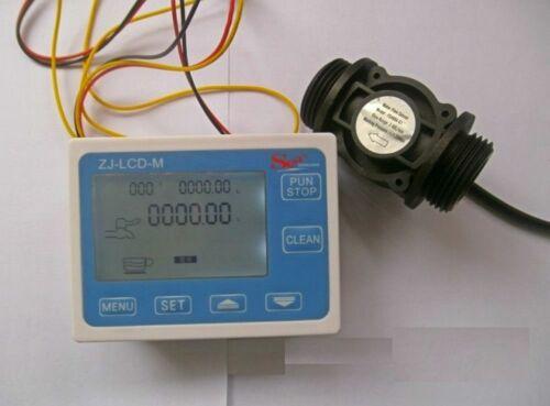 "Hall effect G1"" Flow Water Sensor Meter+Digital LCD Display control"