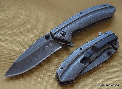 Kershaw Filter Blackwash Spring Assisted Knife Razor Sharp Blade All Metal Body