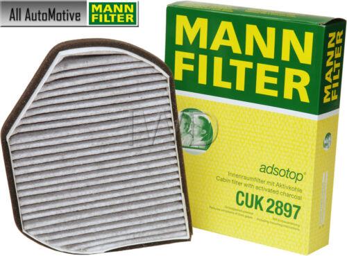 For Mercedes W202 S202 C208 A208 R170 C220 Cabin Air Filter Carbon Mann CUK2897