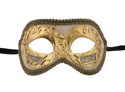 Mask from Venice Colombine Golden Baroque for Prom 1090 V54