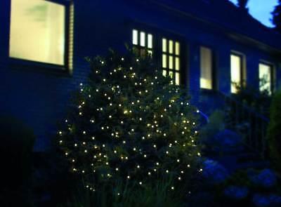LED Lichternetz für Außen 4x4m o. 2x4m Kabelfarbe grün warmweiß Außendekoration