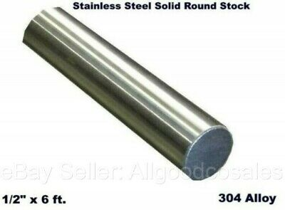 Stainless Steel Solid Round Stock 12 X 6 Ft 304 Unpolished Rod 72 Length