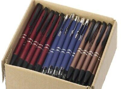 5lb Box Of Assorted Misprint Ink Pens Bulk Ballpoint Pens Retractable Metal Lot
