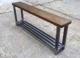 Industrial Style - Hallway Shoe Bench - Handcrafted in my Norfolk workshop