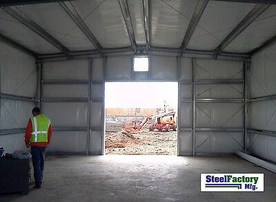Steel Factory Mfg 30x50x14 Auto Body Garage Style Metal Shop Storage Building
