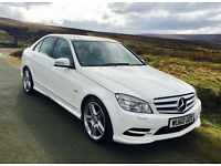 Sport White Mercedes-C250 AMG Package