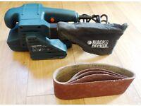 Black & Decker belt sander 75 x 457 mm