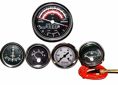 David Brown Tractor Tachometer - Tempe -oil Pressure - Ammeter - Fuel Gauge