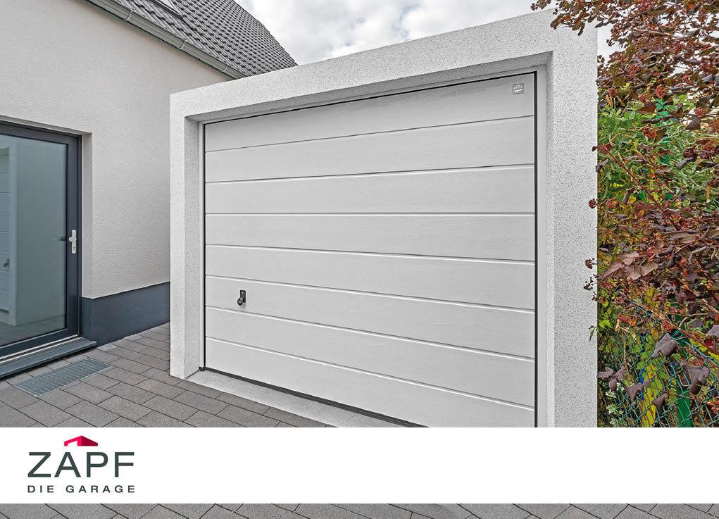 ZAPF Schnäppchen Garage - Beton Fertiggarage mit Sektionaltor
