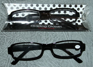 Reading-Glasses-Brown-Black-Rectangle-Frame-1-5-2-2-5-3-4-Mens-Ladies
