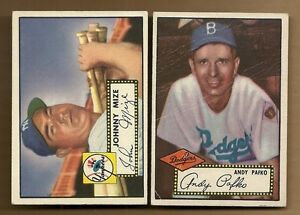 1952-TOPPS-ANDY-PAFKO-1-RED-BACK-DODGERS