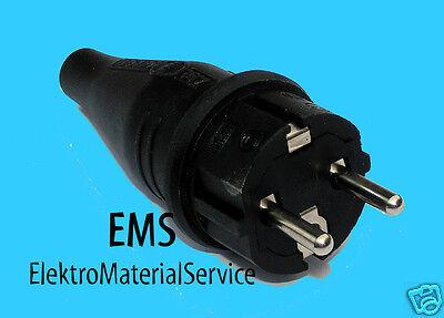 Schuko Gummistecker 230V IP44 Schukostecker ABL 1,5 mm²