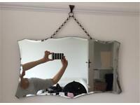 Vintage Art Deco bevelled edge mirror