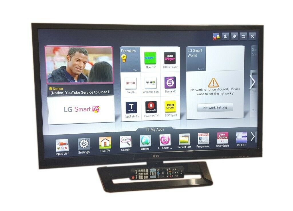 LG 42 INCH LED SMART TV WIFI ENABLED