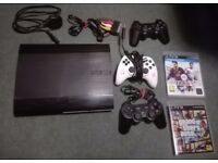 Playstation 3 (PS3) 320GB, EA Controller, 2 Games, 2 other controllers