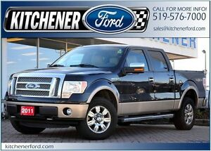 2011 Ford F-150 Lariat 4X4/LEATHER/CAMERA/TOW PKG/SIRIUS/HTD...