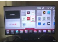 LG 47inch full HD 3D LED Smart TV, Slimline, Light weight, Excellent condition, all major apps...