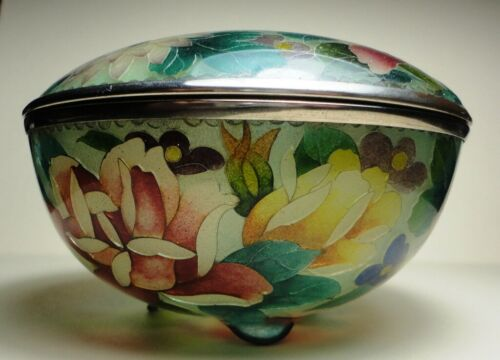 Japanese Plique-a-Jour Cloisonné Bowl with Top