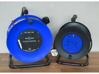 Set of cable reels, new. 50 meter and 25 meter, 230v