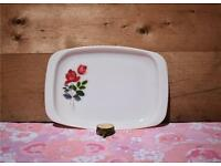 Pyrex JAJ June Rose 2 Serving / Meat Platters retro vintage