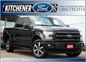 2015 Ford F-150 Lariat CPO/LEATHER/NAVI/SIRIUS/TOW PKG/PWR GROUP