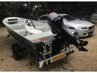 Quicksilver - Sea Nymph 500 SF 16ft Aluminium Boat, Trailer, 40hp Mercury Outboard Engine
