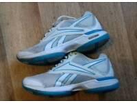 Ladies blue/white Reebok trainers