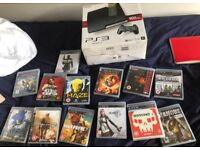 PS3 + 13 games for sale.