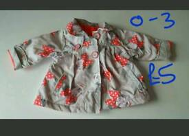 Baby girl minnie mouse coat 0-3m