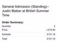 British summertime festival tickets-Justin Bieber