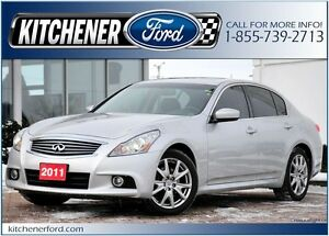 2011 Infiniti G37x AWD/LEATHER/SUNROOF/HTD SEATS/PWR GROUP